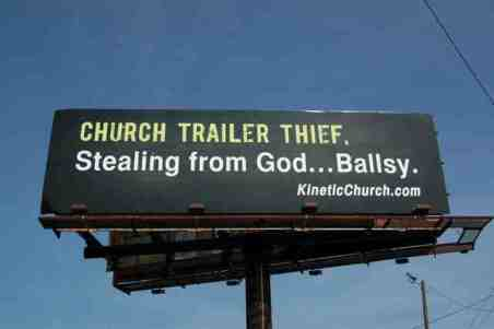 kinetic church billboard